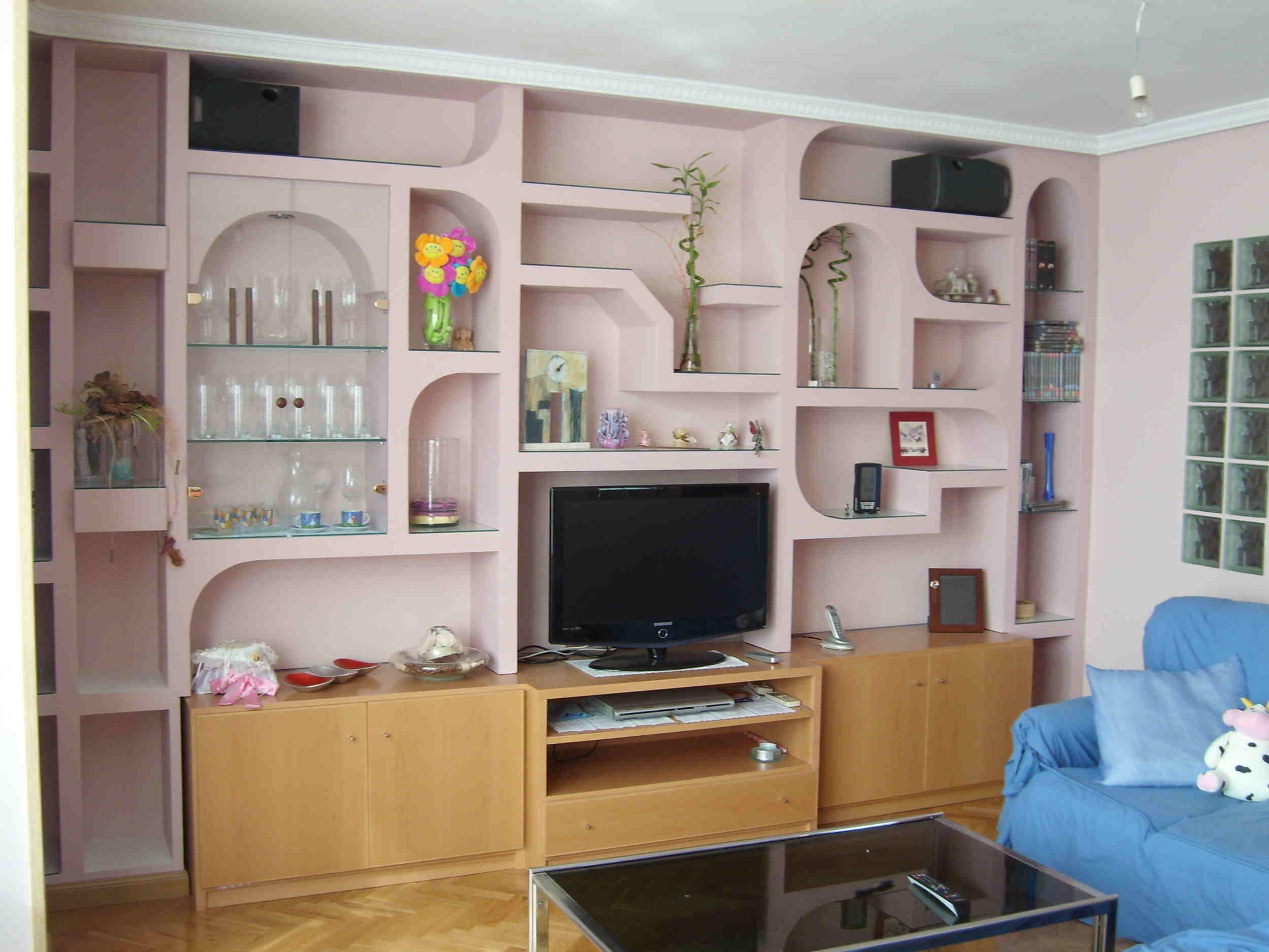 Bienvenido for Muebles de escayola para el salon